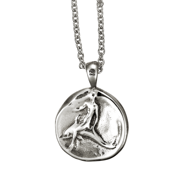 dolphin coin pendant sterling silver
