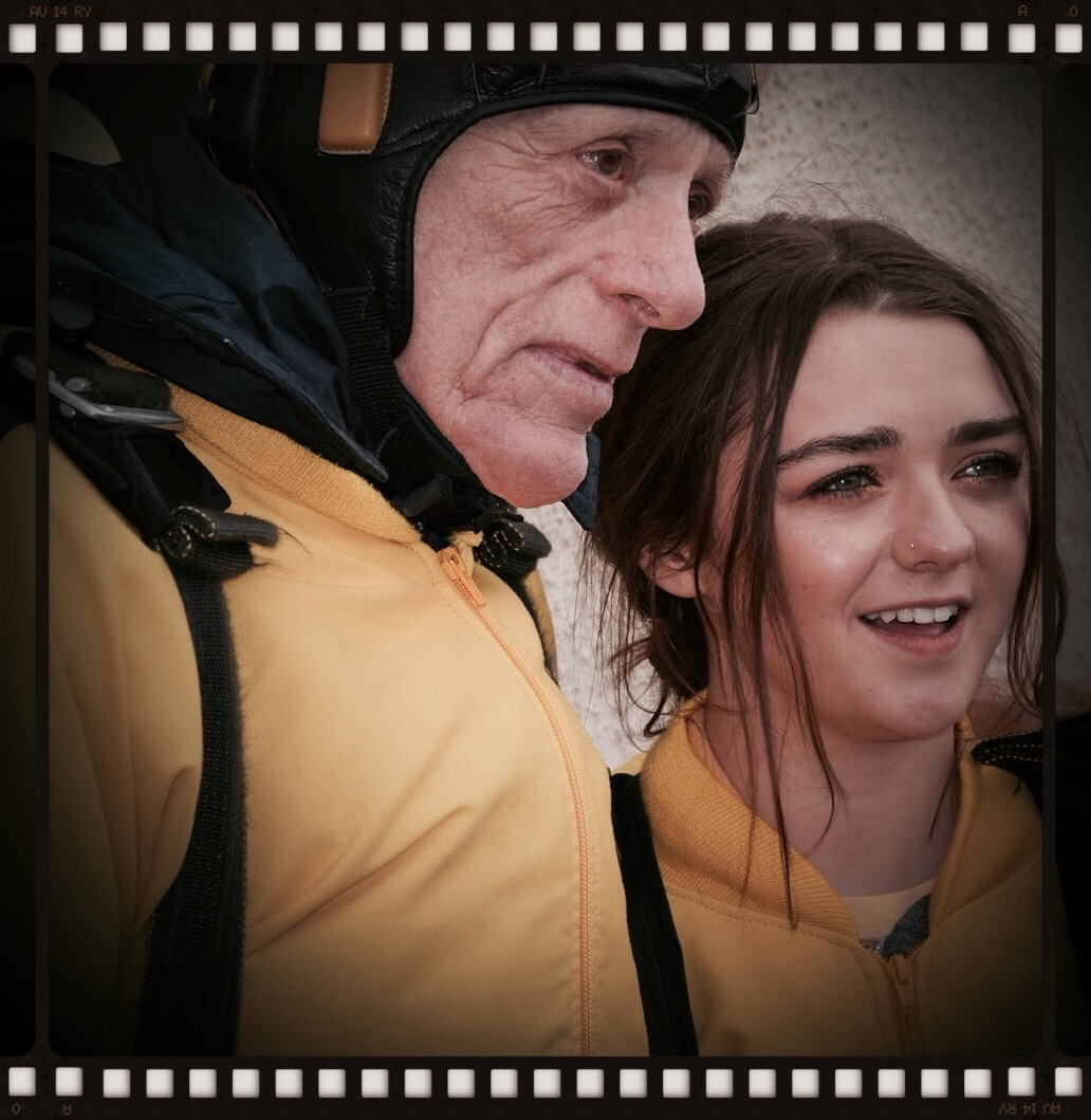 Ric O'Barry and Maisie Williams skydive for dolphins!