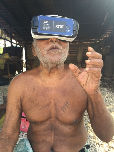 Dolphin Project using Virtual Reality to educate villagers about dolphins.