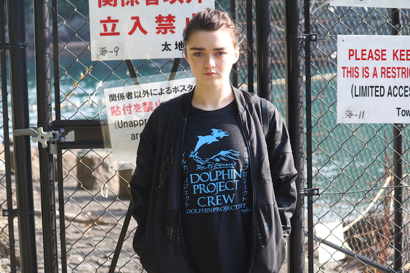 Maisie Williams returns to the cove, Taiji, Japan