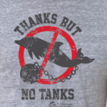Thanks But No Tanks Ringer T Shirt Dolphin Project Charity