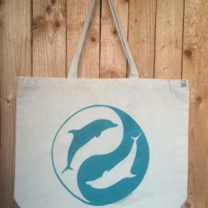 Yin Yang Dolphin Tote Bag Dolphin Project Charity Product
