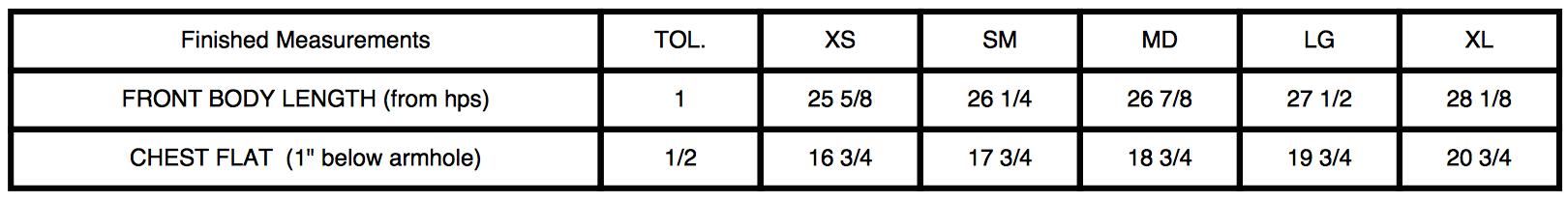 37120 Size Chart