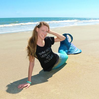 Swim with Mermaids Tee Dolphin Project
