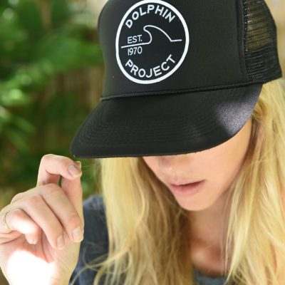 DOLPHIN PROJECT BLACK FOAM TRUCKER HAT WITH 1970 PATCH 1