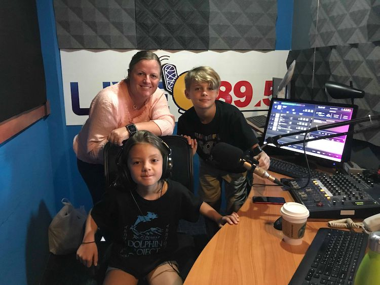 Hitting the airwaves! Mini Cove Monitors discuss the plight of dolphins in Japan, and why they want to help.