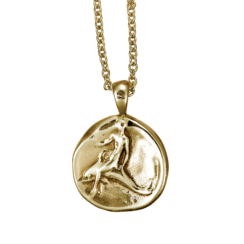 Dolphin coin pendant in 14k yellow gold dolphin project dolphin coin pendant shown in 14k yellow gold aloadofball Image collections