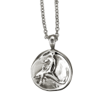 Dolphin Coin Pendant shown in sterling silver