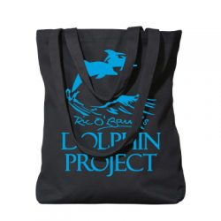 Dolphin Project Black Tote w/ Teal Logo
