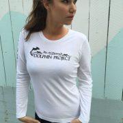 Women's Long Sleeve Dolphin Project Logo Tee