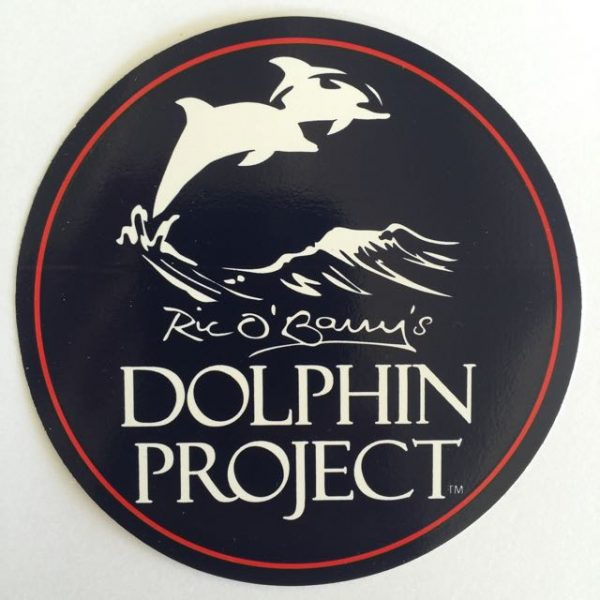 Dolphin Project Logo Round Decal Red