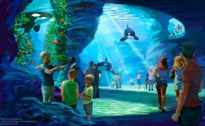 An artist's impression of the Blue World Project proposed by SeaWorld/SeaWorld Parks & Entertainment press release