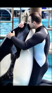 John and Takara at SeaWorld of Texas, 2012. Credit: Daniel