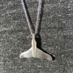 Silver Whale Tail Pendant
