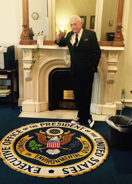 Ric O'Barry at the The White House Washington D.C. Photo: DolphinProject.com