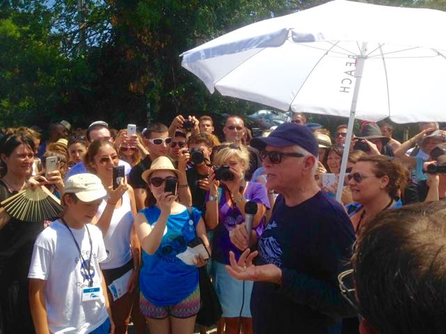 Ric O'Barry speaks to the crowd outside Marineland Photo: DolphinProject.com