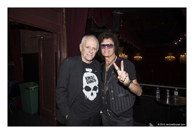 Jul 29, 2015 - Ric O'Barry and Glenn Hughes in San Francisco, California, USA - Supergroup The Kings Of Chaos featuring rock legends Slash (Guns N' Roses, Velvet Revolver), Sammy Hagar (Van Halen), Matt Sorum (Guns N' Roses), Gilby Clarke, Duff McKagan (Guns N' Roses, Velvet Revolver), Billy Duffy (The Cult), Glenn Hughes (Deep Purple) and Myles Kennedy (Alter Bridge), perform live at the Fillmore at the benefit for Ric O'Barry's Dolphin Project, a not for profit campaign aimed at putting an end to dolphin exploitation and slaughter around the world. (Credit Image: © Jerome Brunet/ZUMA Press)