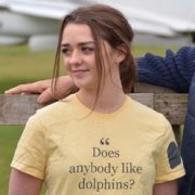 Does anybody like dolphins? tee worn by Maisie Williams