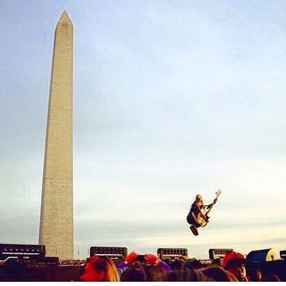 Tony Kanal catching air in DC