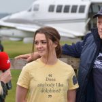 Ric O'Barry and Maisie Williams Skydiving for Dolphins