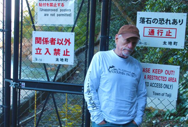 Ric O'Barry in Taiji, Japan