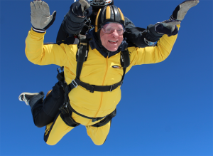 Ric O'Barry Skydiving for Dolphins