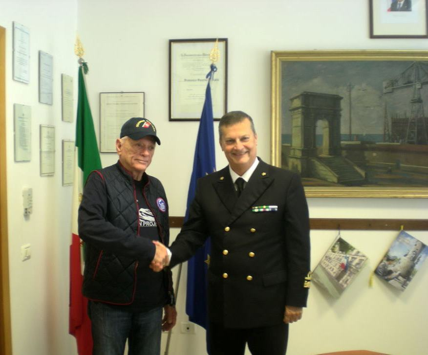 Ric O'Barry and Admiral Francesco Saverio Ferrara.