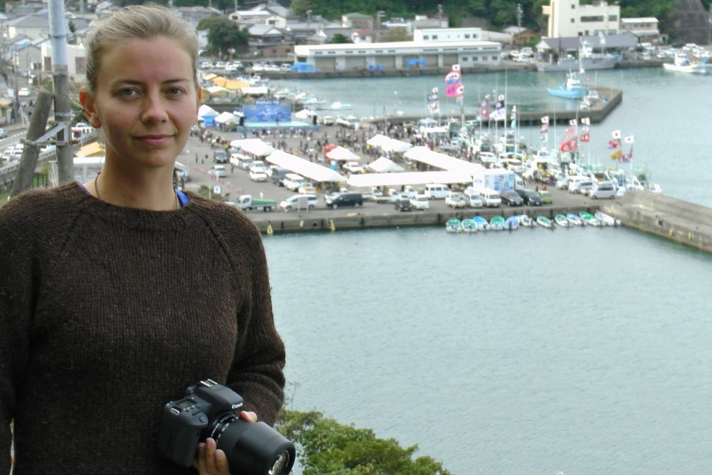 Cove Monitor Marna at the Taiji Whale Festival