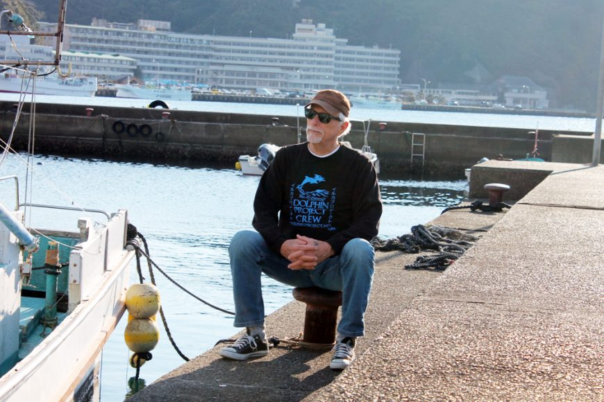 Ric O'Barry in Taiji, Japan