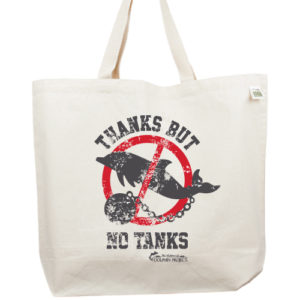 Thanks But NO Tanks Tote Charity Dolphin Project