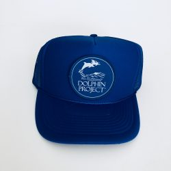 Dolphin Project Royal Blue Foam Trucker Hat with Logo Patch